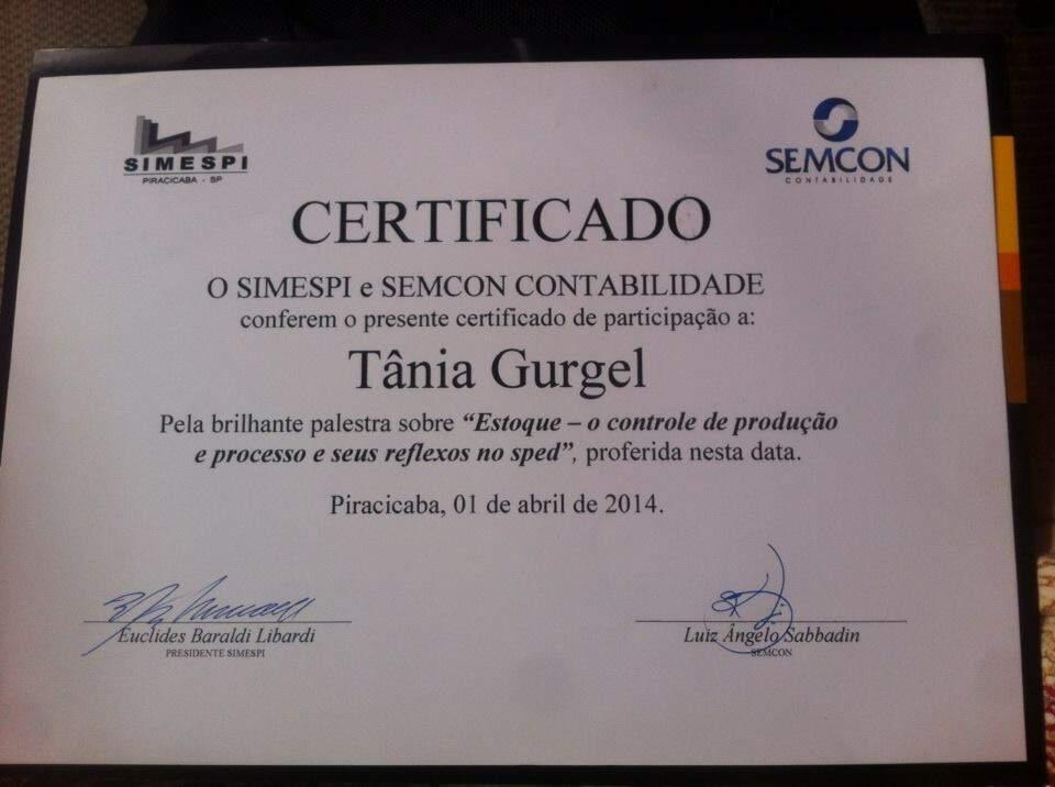 Certificado Da Palestra De Piracicaba Abril